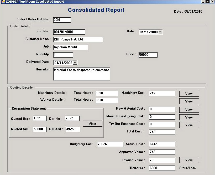Tool Room Management System, Tool Room Information Systems software ...